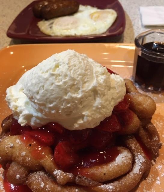 最近の朝食-Funnel Cake等々_e0350971_12420241.jpg