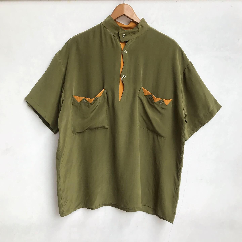 90\'s〜 Unique Design Pullover Silk Shirts_a0182112_12195520.jpg