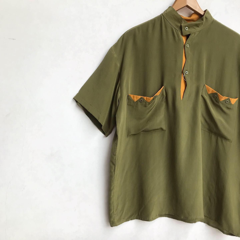 90\'s〜 Unique Design Pullover Silk Shirts_a0182112_12195895.jpg