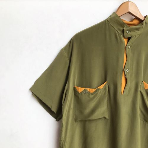 90\'s〜 Unique Design Pullover Silk Shirts_a0182112_12195926.jpg