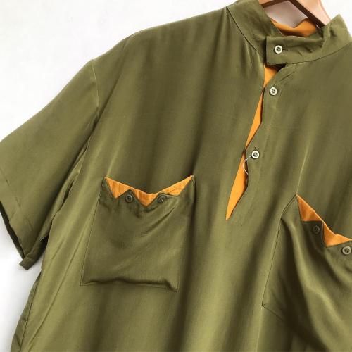 90\'s〜 Unique Design Pullover Silk Shirts_a0182112_12200055.jpg