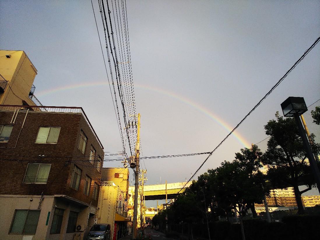 虹が出ていました。_a0098418_14264666.jpg