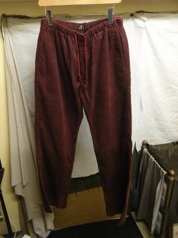 9月の製作 / DA corduroy easy pants_e0130546_12545115.jpg