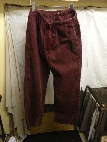 9月の製作 / DA corduroy easy pants_e0130546_12555155.jpg