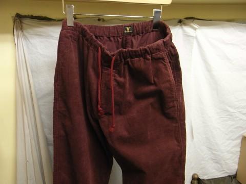 9月の製作 / DA corduroy easy pants_e0130546_12561395.jpg