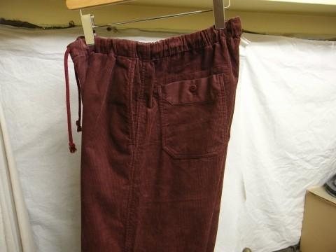 9月の製作 / DA corduroy easy pants_e0130546_12563284.jpg