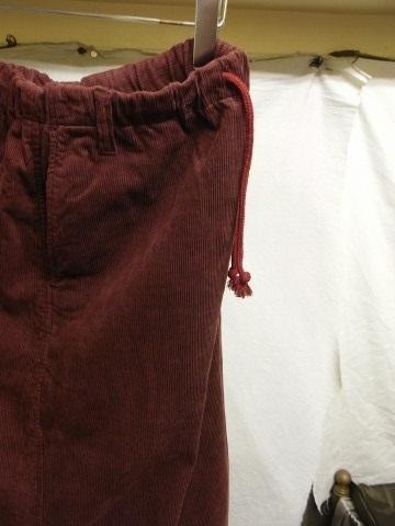 9月の製作 / DA corduroy easy pants_e0130546_12564009.jpg