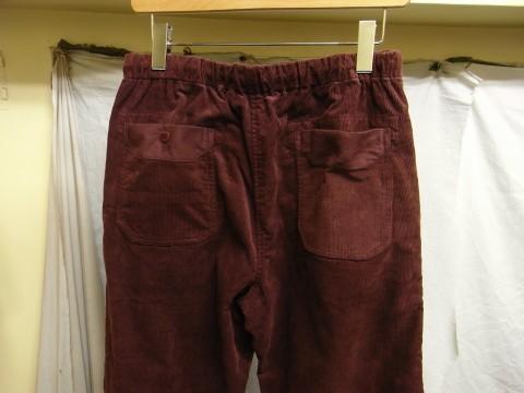 9月の製作 / DA corduroy easy pants_e0130546_12571879.jpg
