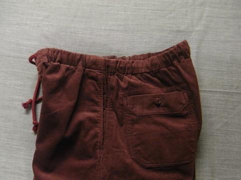 9月の製作 / DA corduroy easy pants_e0130546_12574550.jpg