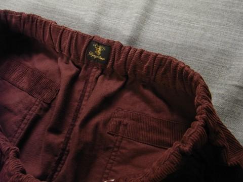 9月の製作 / DA corduroy easy pants_e0130546_12580140.jpg