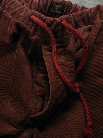 9月の製作 / DA corduroy easy pants_e0130546_12581714.jpg