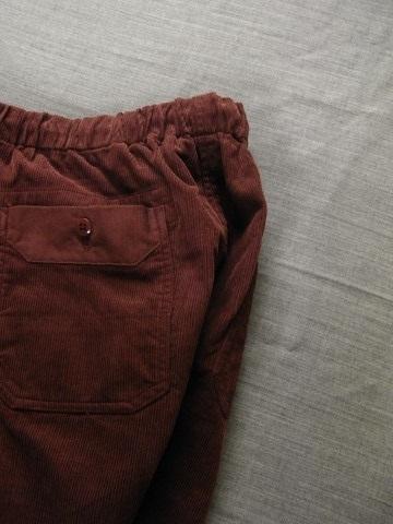9月の製作 / DA corduroy easy pants_e0130546_12583087.jpg