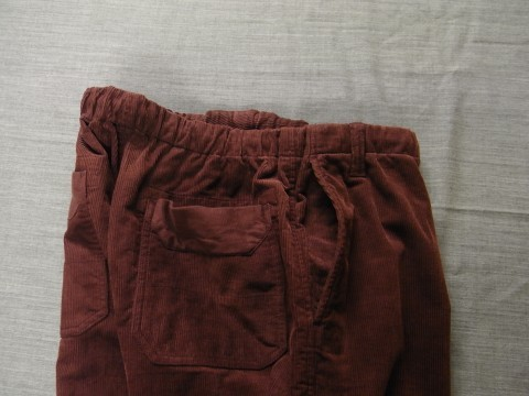 9月の製作 / DA corduroy easy pants_e0130546_12584234.jpg