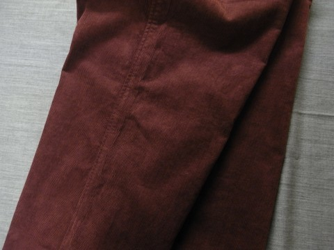9月の製作 / DA corduroy easy pants_e0130546_12585792.jpg