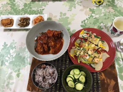 久々、韓国料理教室。_b0194056_16510077.jpg