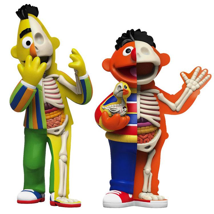 Sesame Street Anatomical Bert & Ernie by Jason Freeny_e0118156_21405167.jpg