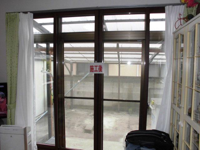 内窓取付けと防犯ガラスに交換で安心・安全をプラス…_d0244968_17281244.jpg
