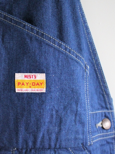 PAYDAY × WEST\'S OVERALL / INDIGO (LADIES SELECT)_b0139281_15515679.jpg