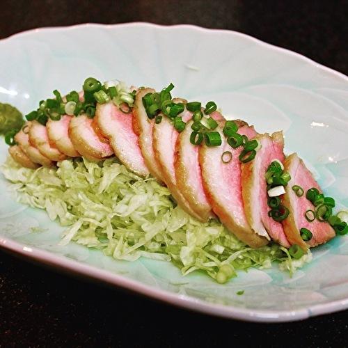 サラダキンパと鴨ローストサラダ、夏野菜のかき揚げ。_a0223786_16301137.jpg