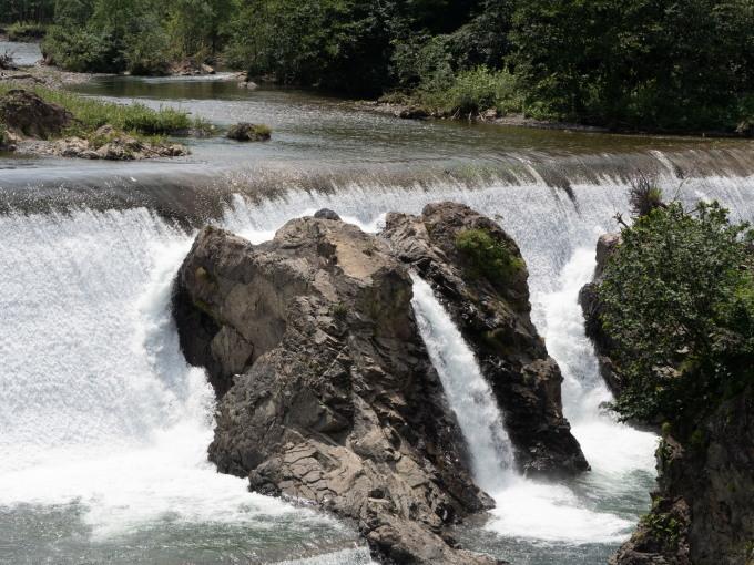 """""""エゾニュウ""""の群落を通って・・涼しげな「ピョウタンの滝」へ_f0276498_23495585.jpg"""