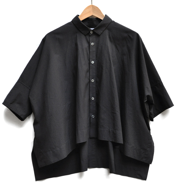 「カジュアルワイド半袖シャツ」ブラック再入荷のお知らせ_d0193211_13415788.jpg