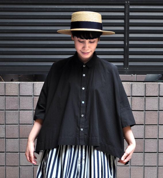 「カジュアルワイド半袖シャツ」ブラック再入荷のお知らせ_d0193211_13421615.jpg