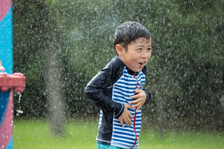 令和元年夏休み ちびっ子兄弟の水遊び!!「福岡堰さくら公園」_c0369219_13263615.jpg
