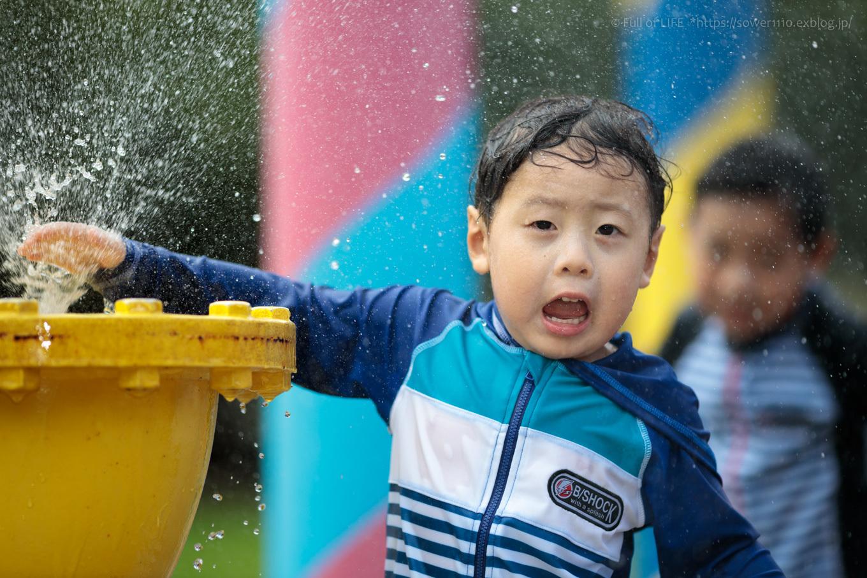令和元年夏休み ちびっ子兄弟の水遊び!!「福岡堰さくら公園」_c0369219_13272801.jpg