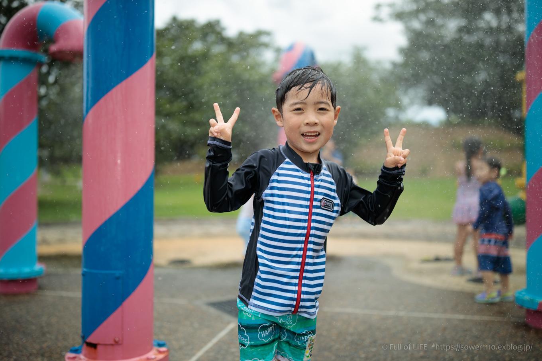 令和元年夏休み ちびっ子兄弟の水遊び!!「福岡堰さくら公園」_c0369219_14214313.jpg