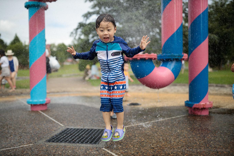 令和元年夏休み ちびっ子兄弟の水遊び!!「福岡堰さくら公園」_c0369219_14374897.jpg