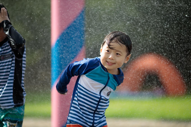 令和元年夏休み ちびっ子兄弟の水遊び!!「福岡堰さくら公園」_c0369219_15394994.jpg