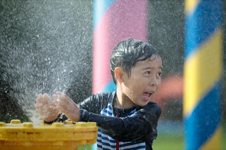 令和元年夏休み ちびっ子兄弟の水遊び!!「福岡堰さくら公園」_c0369219_15471510.jpg