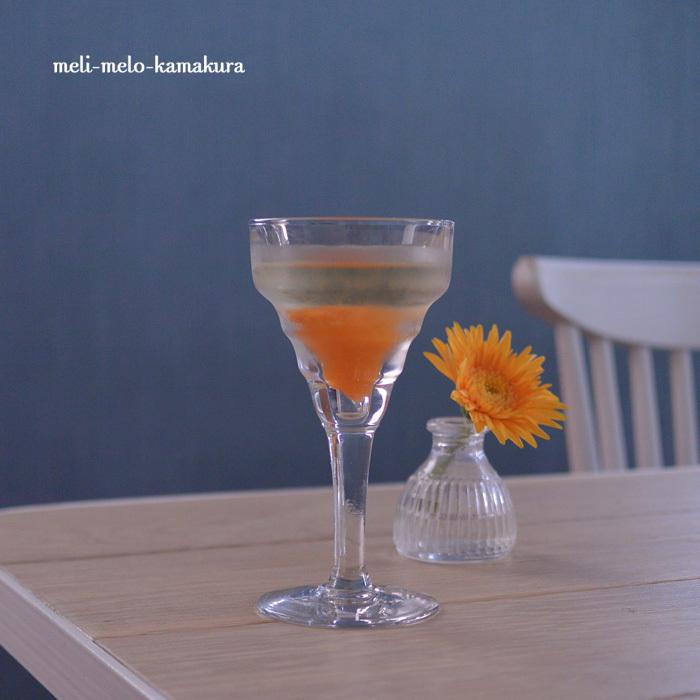◆フランスアンティーク*ゆらゆらグラスと杏のカクテル_f0251032_08491333.jpg