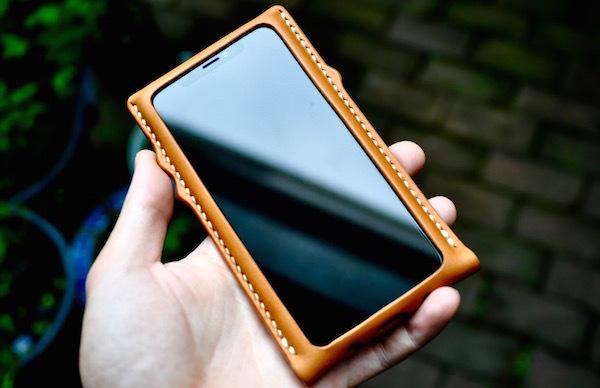 iphone Xs leather case_b0172633_20355501.jpg