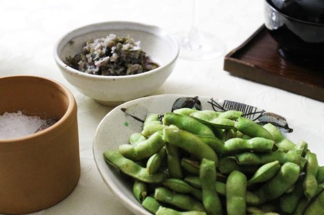 濃い茶そばと天ぷら_d0377645_17322356.jpg