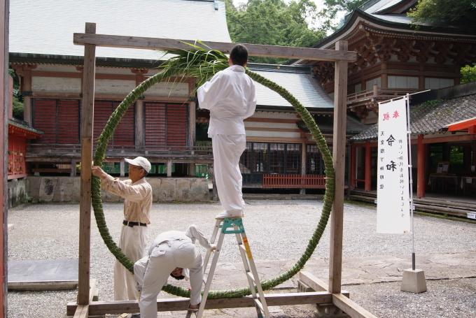 茅の輪設置 R1.07.29_f0191383_15092717.jpg