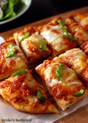 自家製ピザ2種類+サラダ_b0253205_04212799.jpg