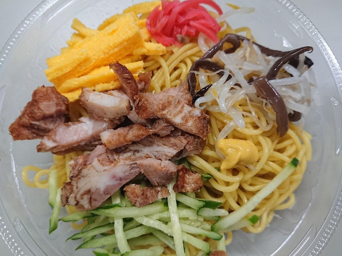 7/29  ファミマ 具だくさんミニ冷し中華 & フレッシュ野菜サラダ_b0042308_01291591.jpg