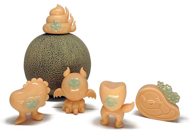 Junkonotomo mini Sofubi series Melon edition by Junko Mizuno_e0118156_09203185.jpg