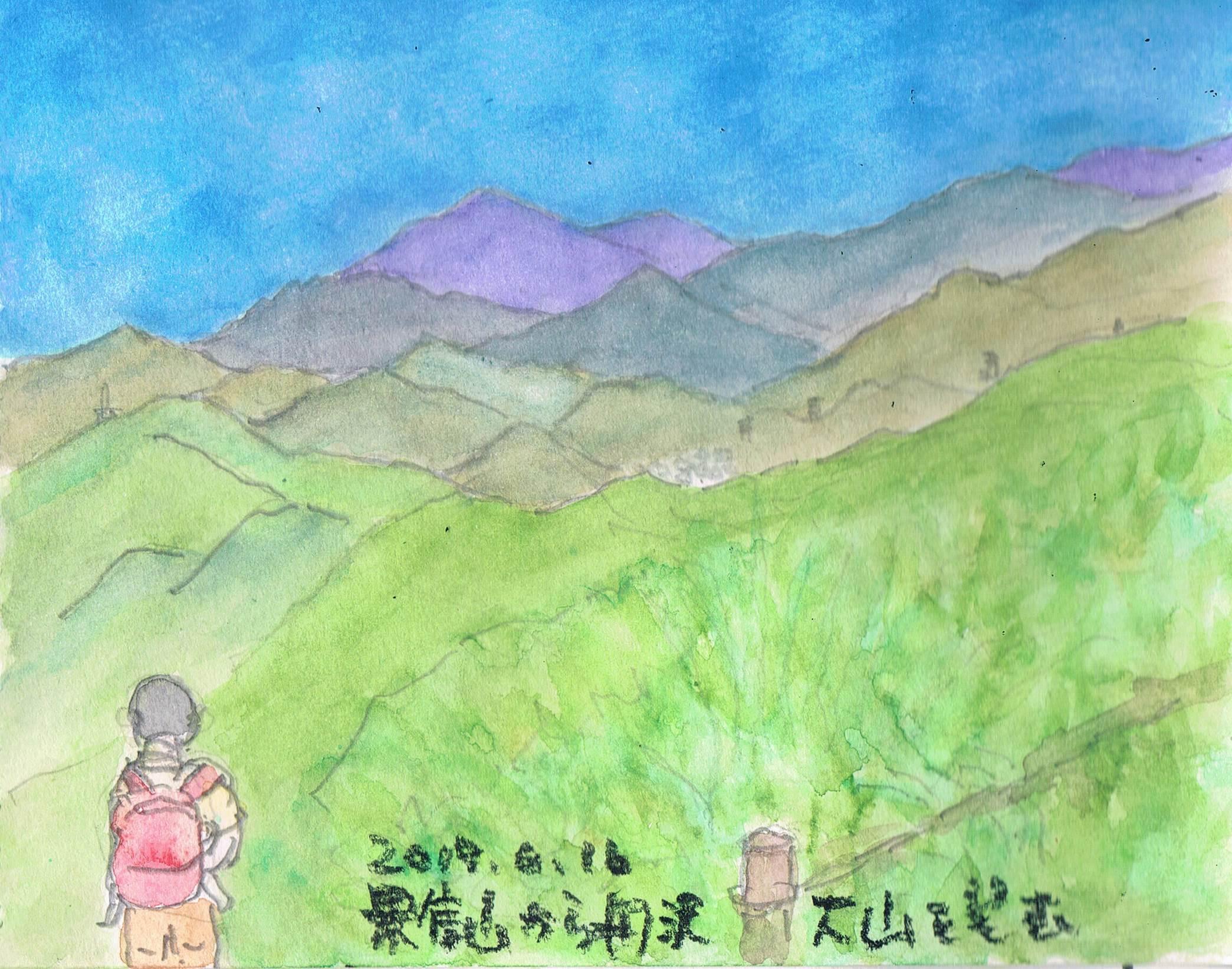 景信山から丹沢大山を望む_e0232277_10522130.jpg
