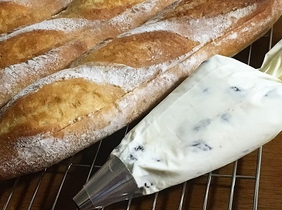 冷やしても美味しいミルクフランス ラムレーズン入り_f0231189_21180243.jpg
