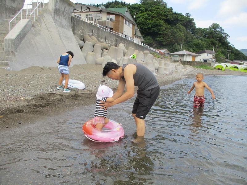 7月31日(水)・・・夏休み海水浴、そして蘭越町の黄金温泉へ_f0202703_19482768.jpg