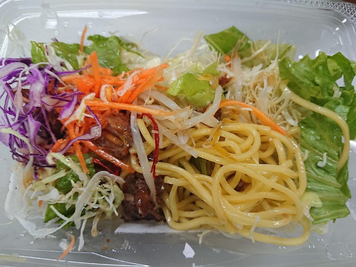 7/30夜勤飯  ファミマ  野菜と食べる!ラーメンサラダ_b0042308_01512646.jpg