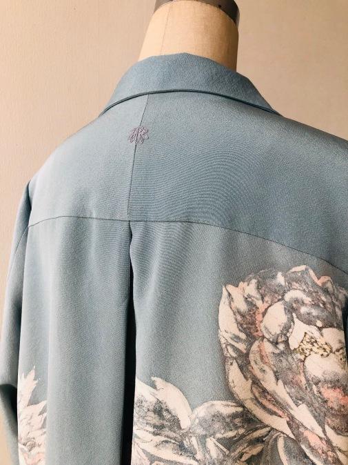 着物リメイク・着物からオープンカラーのチュニック_d0127925_09534667.jpg
