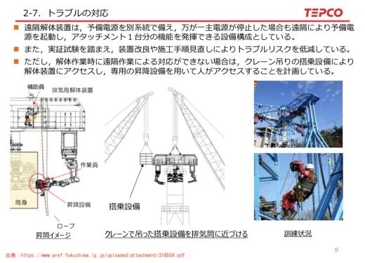 F1来月から排気筒解体 凡ミスで着工遅れ 線量もかさむ 猛暑・台風 不安山積み / 核心 東京新聞 _b0242956_01312489.jpg