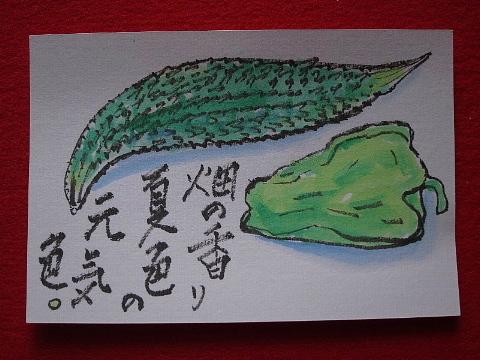 絵手紙には心の弾みを描く。_b0141773_23000488.jpg