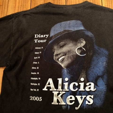 "2005 "" DELTA -PRO WEIGHT- \"" 100% cotton BODY - ALICIA KEYS - Vintage ROCK Tee SHIRTS ._d0172088_21465995.jpg"