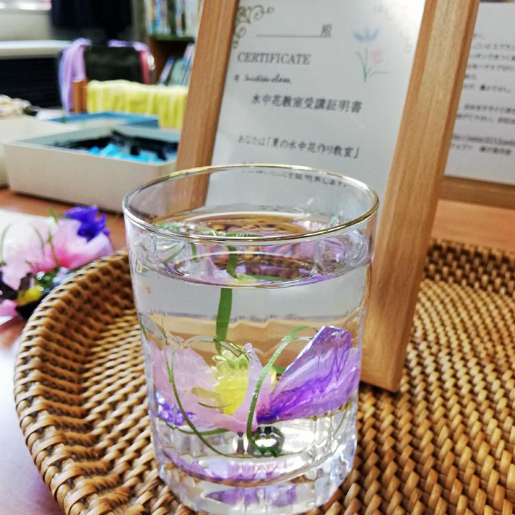 高温注意報の日、水中花 教室2019はじまり。_b0292535_13372542.jpg