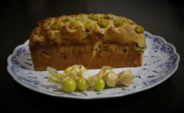 高槻の家庭菜園で収穫した「食用鬼灯」でパウンドケーキ~♬_f0229190_17063047.jpg