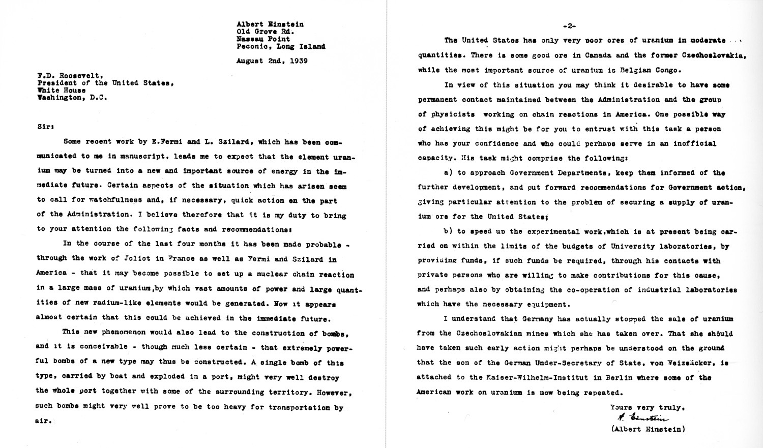 The Einstein-Szilard Letter --August 2nd 1939_e0178600_21550351.jpg